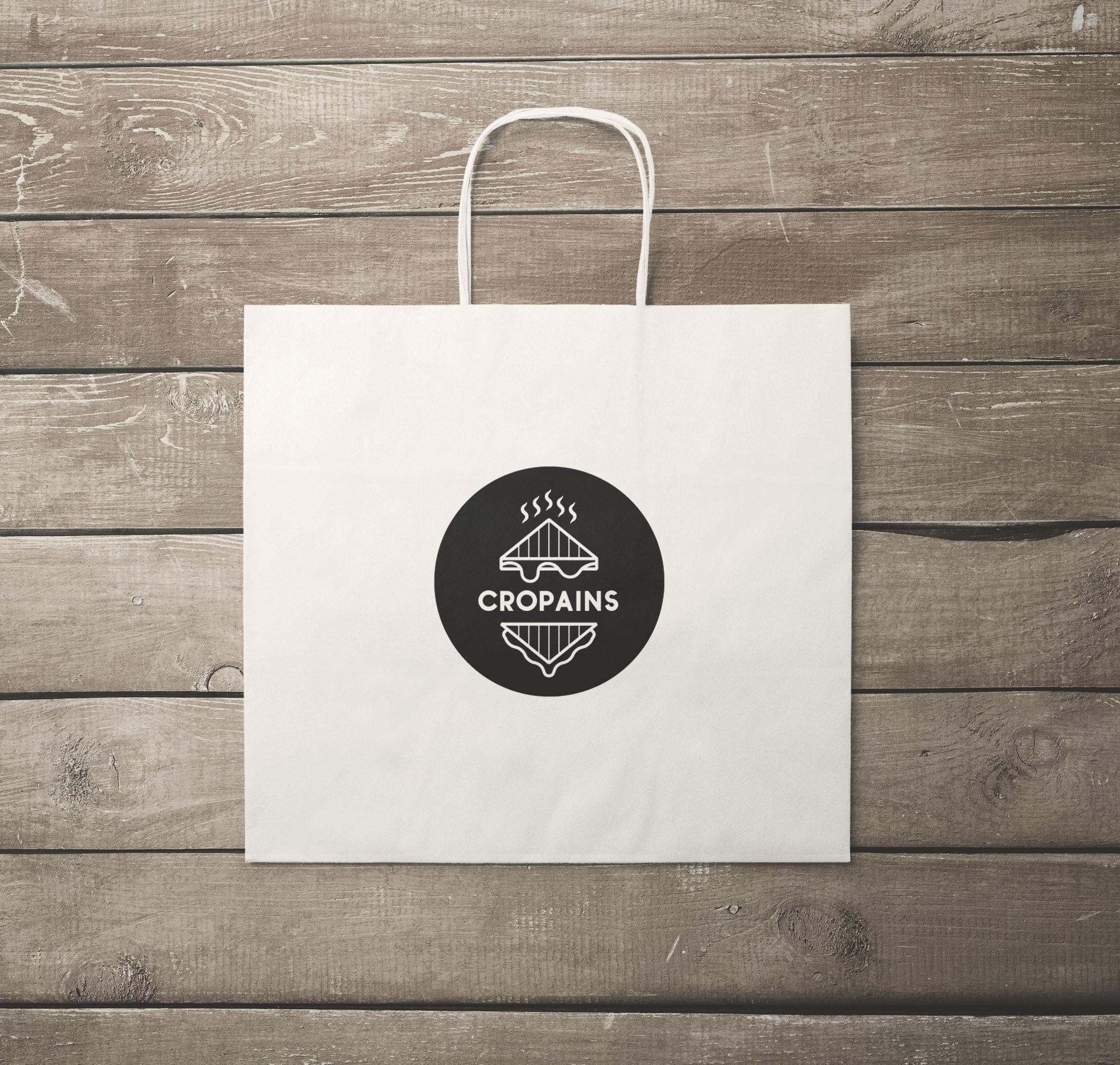 cropains restaurant logo design